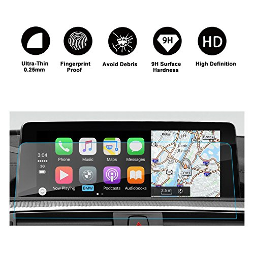 RUIYA GPS Navigation Screen Display Protector Appliable to 2/3/4 Series F22 F45 F30 F31 F34 F32 F33 F36 Clear Trapezoid Tempered Glass 8.8 Inches, if applicable, if applicable