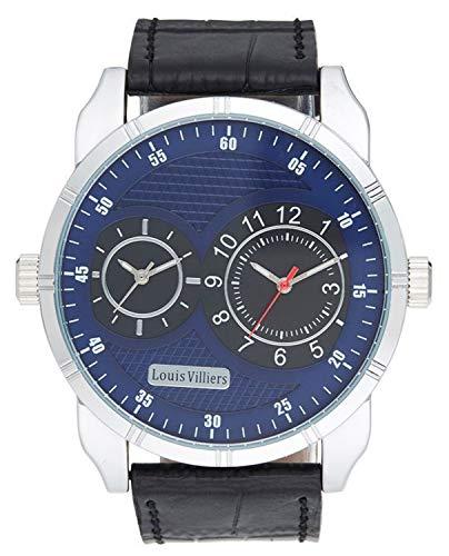 Louis villiers Reloj para Hombre Analógico de Cuarzo con Brazalete de Piel de Vaca LVW18013