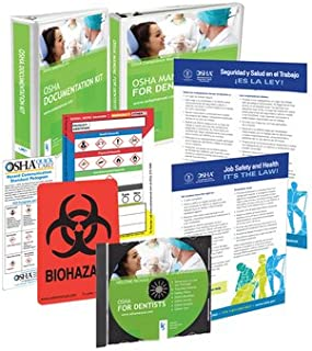2019 OSHA Package for Dental Offices Including Regulations and Standards Manual (hardcopy) + Safety Policies and Forms (hardcopy and CD) + Training Outline and Test + Resource CD + Posters + Labels