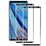RSSYTZ Cristal Templado para Samsung Galaxy Note 9, [2 Piezas] Cobertura Completa, Anti-rasguños, Sin Burbujas, Película Protectora de Vidrio Templado para Samsung Galaxy Note 9