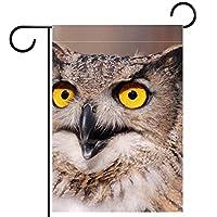 ウェルカムガーデンフラッグ(28x40inch)両面垂直ヤード屋外装飾,フクロウ
