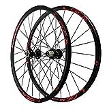 ZNND Rueda para Bicicletas 27,5 Pulgadas,Llanta MTB De Doble Pared Trasero Rueda 24 Orificios Bicicleta De Montaña Liberación Rápida 8/9/10/11/12 Velocidad (Color : Red, Size : 27.5in)