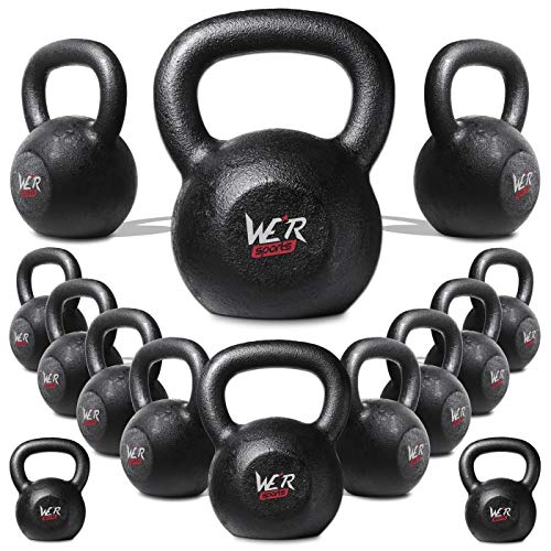 We R Sports 4kg 6kg 8kg 10kg 12kg 16kg 20kg 24kg 28kg30kg 32kg 36kg And 40kg Cast Iron Kettlebell Gym Tone Fitness Exercise (2)