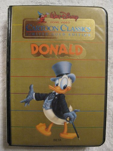 DONALD - Walt Disney Home Video Limited Gold Edition Cartoon Classics BETA Format DONALD Beta Format Video Cassette