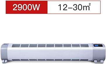 ZXMDP Eléctrico Calefactor Convector, de Perfil bajo Nivel, termostato, Temporizador Digital para el hogar/Conservatorio -Baseboard Radiador con Anti Frost, Control Remoto,2900W