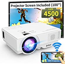 WiFi Mini Projector, 2020 Latest Update 4500 Lux[100