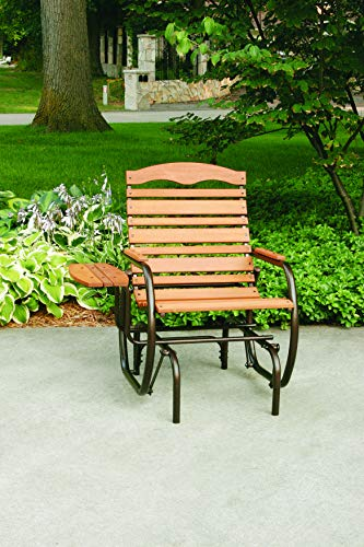JACK-POST CG-21Z Country Garden Glider Chair with Tray, Bronze