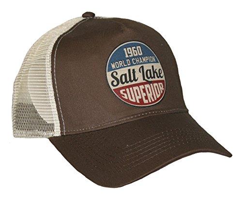 HELLMOTORS Salt Lake Race Trucker Mesh Cap Chocolate Old School Hot Rod Vintage Retro