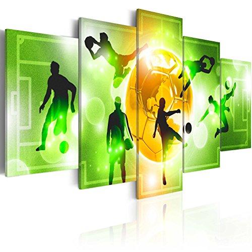 murando - Bilder 200x100 cm Vlies Leinwandbild 5 TLG Kunstdruck modern Wandbilder XXL Wanddekoration Design Wand Bild - Fußball Sport i-A-0100-b-n