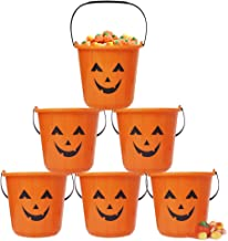 Zcaukya Halloween Pumpkin Trick Treat Bucket, 6 Pack Halloween Pumpkin Candy Bucket, Trick Treat Bucket, Portable Plastic ...