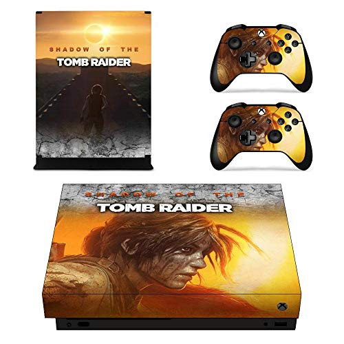 Tomb Raider, cubierta completa, consola y controlador de piel, pegatinas para Xbox One X, pegatinas de piel, vinilo