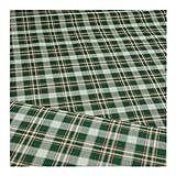 Stoff am Stück Stoff Baumwolle Karo beige grün