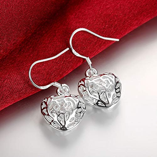 Fashion 925 Silver Heart Drop Earrings For Women Party Silver Jewelry The Most Fashionable Gift For Valentine's Day