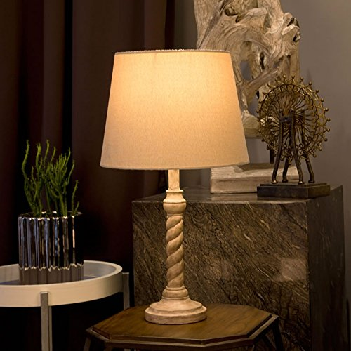 Bonne chose lampe de table Lampe de chevet Chambre Salon Éclairage d'étude Lampe de bureau antique Creative Nordic Lampe de table décorative chaleureuse et romantique