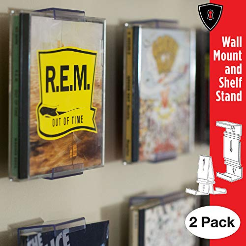 CollectorMount CD Mount Wall Frame Display and Shelf Stand, Invisible and Adjustable, 2 Pack