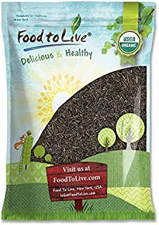 Organic Wild Rice — Raw, Long Black Whole Grain, Non-GMO, Kosher, Bulk (by Food to Live) — 5 Pounds