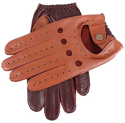 Dents Cognac/anglais Tan Deux gants de conduite en cuir Tone - Petit de