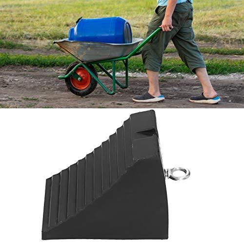 Calzo de goma para ruedas, resistente a la intemperie Cómodo de usar, con calzo para ruedas con anillo de elevación, camiones para remolques Casa Coche