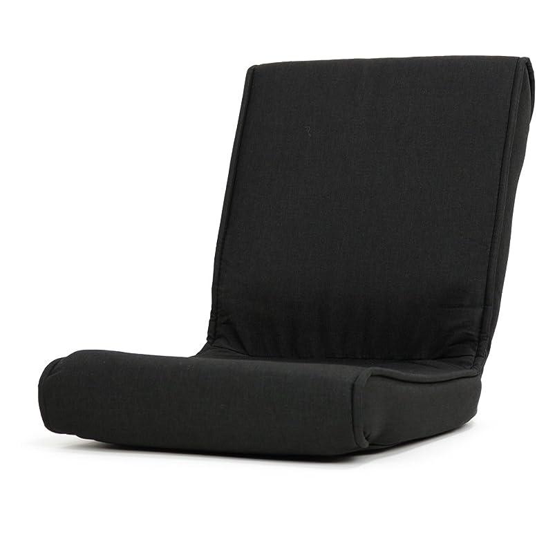 トリクル凍った農村座椅子 コンパクト こたつ 椅子 フロアーチェア クローゼット 収納可能「秋月」 (折りたたみタイプ) (ブラック色)