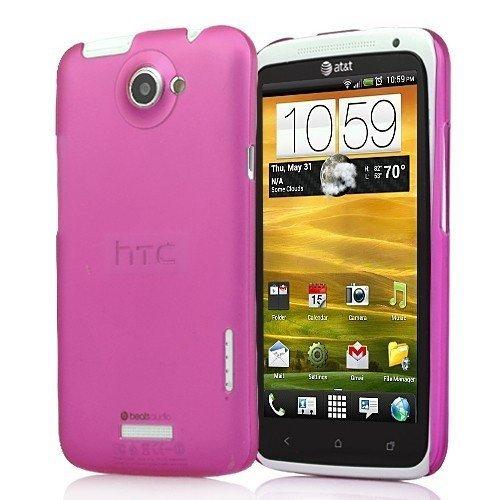 Slim magenta de couverture duchsichtig transparent Housse de protection de couverture de cas de Shell Case HTC X élégance moderne et élégant de téléphon