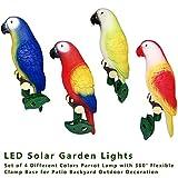 XLCJDJ Luz Solar Del Jardín 4 Unids/Set Solar Power Led Light Ip44 Lámpara De Loro A Prueba De Lluvia Con Clip Bird Shape Luz Nocturna Para Jardín Al Aire Libre Camino Árbol Ornamento