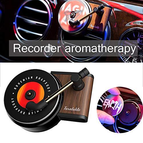 Ritapreaty Auto Aromatherapie Recorder, Draagbare Luchtverfrisser, Phonograph Ontwerp Aroma Parfum Diffuser met Roterende Basis Decoratie voor Auto Thuis