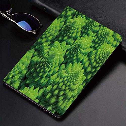 Case for iPad (9.7-Inch, 2018/2017 Model, 6th/5th Generation)Ultra Slim Lightweight Smart Cover,Nature,Broccoli Kale Mother Earth Herbs Themed Fractal Background Foliage M,Smart Covers Auto Wake/Sleep
