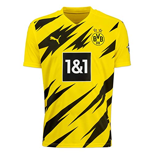 PUMA Herren BVB Home Trikot Replica 20/21 T-Shirt, Cyber Yellow Black, S 757156, Cyber Yellow-puma Black