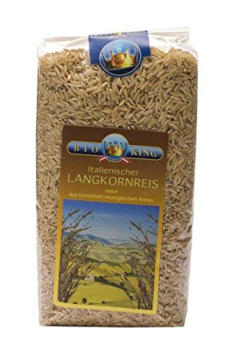BioKing 4x 1000g italienischer Bio LANGKORNREIS natur, ungeschält (EUR 4,79 / kg)
