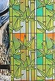Película de Ventana de Vidrio Esmerilado de PVC Etiqueta de Vidrio de privacidad Opaca película de Vidrio de Madera y bambú teñido para decoración del hogar Y 30x200cm
