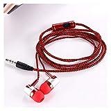 3,5 mm Auriculares con Cable con el Deporte de Cable del micrófono Auricular bajo Auriculares estéreo for teléfonos Inteligentes de Control de Volumen de Manos Libres Auricular inalámbrico Bluetooth
