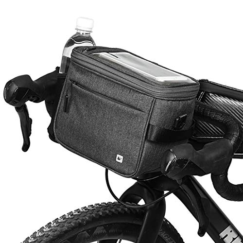 Selighting Impermeable Bolsa de Manillar de Bicicletas de Carretera y de Montaña para Ciclismo, Incluye Correa para el Hombro Extraíble y Cubierta para la Lluvia