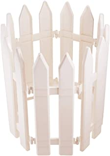 WANDIC Mini Fence, 25 Pcs White Plastic Picket Fences Miniature Fairy Garden Fence for Christmas Wedding Party Garden Home Decoration