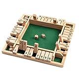 Finetoknow Holzbrettspiel Vierseitiges Flop-Spiel EIN klassisches Familien-Mathe-Spiel für Kinder Family Party Gift Durable Interessant