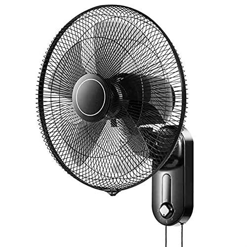 WJY 16 Pulgadas Ventilador de Pared, 3 Velocidades de Ventilación, 50W eléctrico, Oscilante/Giratorio, Ventilador de Aire Frío Montado en la Pared para el Hogar, la Oficina