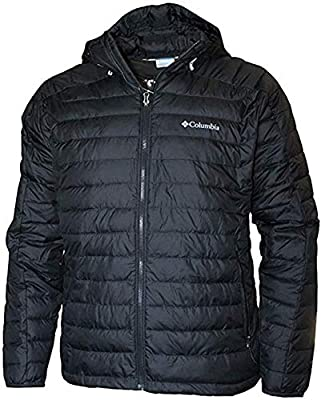 Columbia Men's White Out II Insulated Omni Heat Bomber Hooded Jacket (M, Black) from