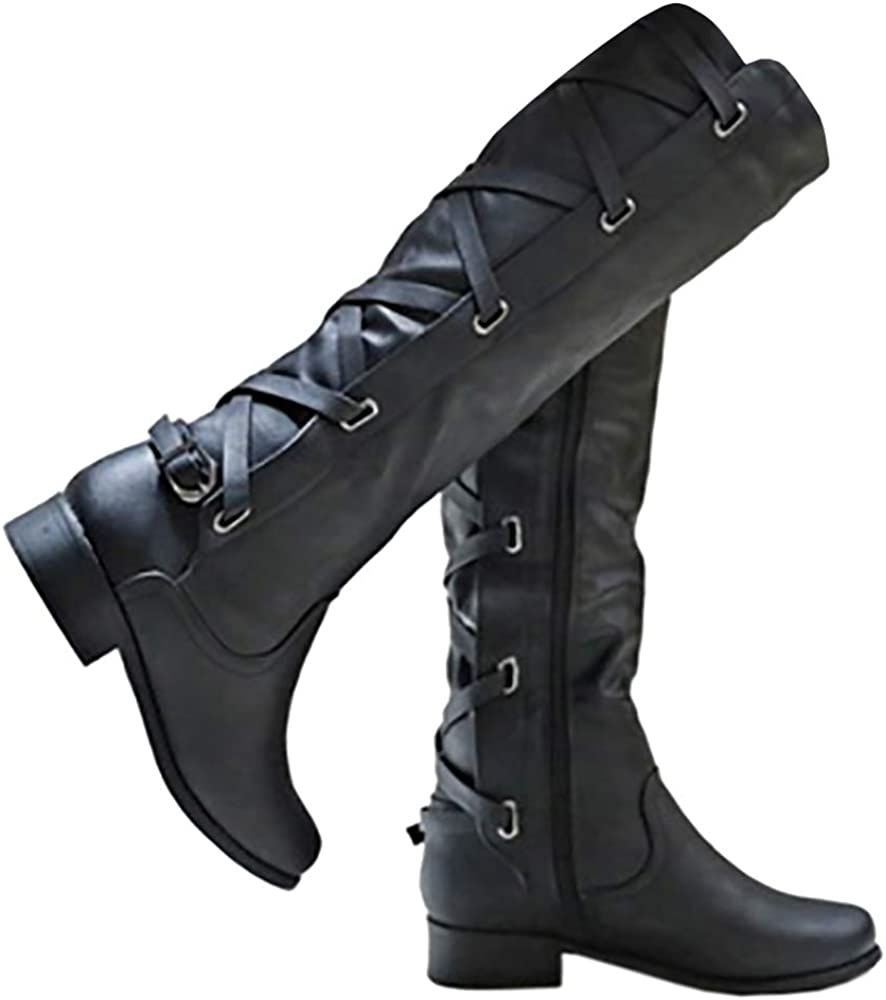 Syktkmx Womens Strappy Motorcycle Knee