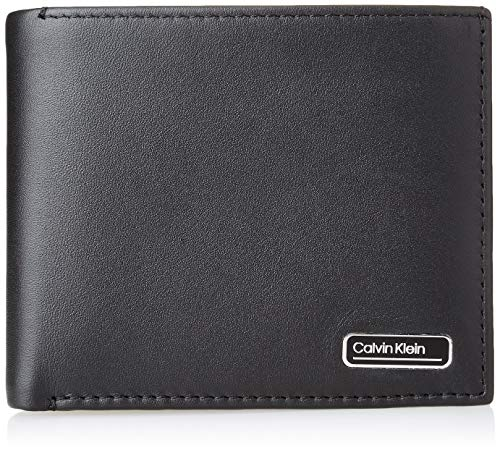 Calvin Klein Bifold 5CC W/Coin, Accessori Portafogli da Viaggio Uomo, Black, One Size