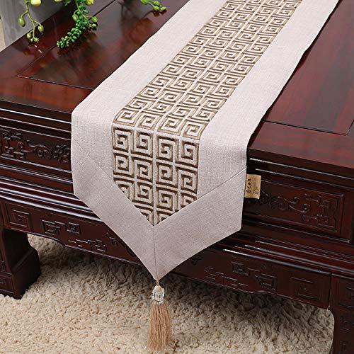 Branfan Chinese tafellopers Europese en Amerikaanse stijl tafelstroken tafelkleden matten moderne borduurwerk doek maaltijd Tafelkleed - Grote Muur