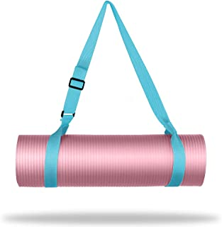 """WEHE Adjustable Carrying Exercise Strap Sling for Yoga Mat - Extra Long 86"""" Durable Cotton Pilates Straps, Shoulder Friend..."""