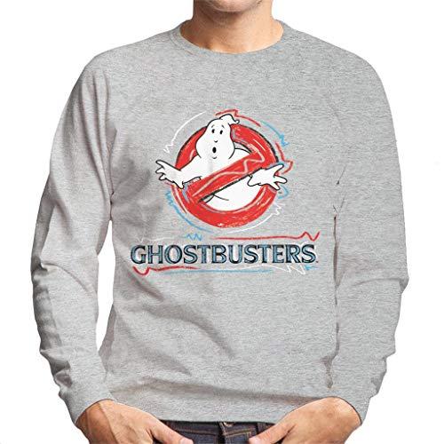 Men's Grey Official Ghostbusters Logo Sweatshirt, S to 2XL