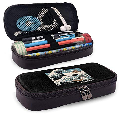 Cat Bus Leder Federmäppchen, Hochleistungs-Student Briefpapier Tasche, Federmäppchen, tragbare...