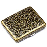 roygra Cigarette Case 85mm King Size (18-20 Capacity) Sturdy Cigarette Holder Metal Retro (Grass)