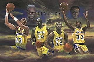 Los Angeles Lakers Legends Fan Art Poster, (24x36)