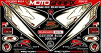 MOTOGRAFIX(モトグラフィックス) ボディパッド GSX1300R隼 08-12 REAR ホワイト/ゴールド/レッド MT-RS017A