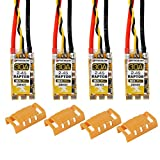 Crazepony 4pcs Flycolor BLHeli_S 30A ESC with ESC Protective Cases,30A BLHeli S 2-4S Lipo Support Dshot 600 Electronic Speed Controller (Automatically Input Signal Detected) by