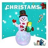 LXFTK Navidad muñeco de Nieve decoración Inflable, Inflable 1,5m Decoración de Navidad para el Patio...
