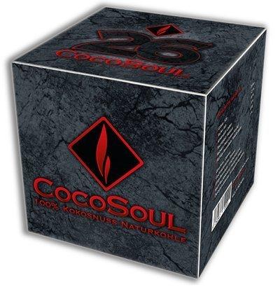 CocoSoul® 4 x 1kg 100% Kokosnuss Naturkohle für Shisha & BBQ