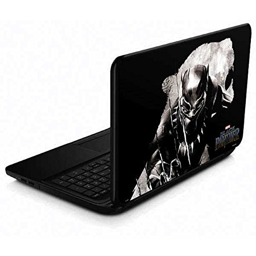 Skinit Decal Laptop Skin Compatible with 15.6 in 15-d038dx - Officially Licensed Marvel/Disney Black Panther Up Close Design