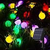 Guirnalda Luces Exterior Solares,Oreunik 9M 66LED Cadena de Luces Impermeable y 8 Modos, D...